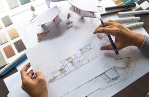 Pläne für ein Architektenhaus