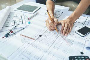 Architektenhaus in Planung als Symbol für Ihre Bauplanung in Magdeburg