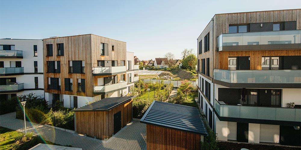 Mehrfamilienhäuser des Baupartners Fundamenta in Megdeburg